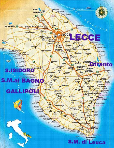 Cartina Puglia Costa Adriatica.Salento Case Vacanza S Isidoro S M Al Bagno Santa Caterina